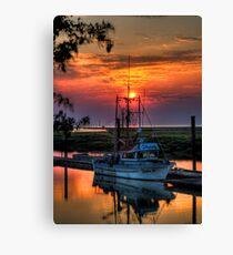 Sunset Over Scotch Pond Canvas Print