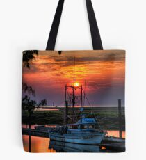 Sunset Over Scotch Pond Tote Bag