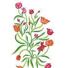 Stylized Tulips by CarolineLembke