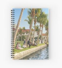 Watching the boat races, Palm Beach, Florida 1906 Spiral Notebook