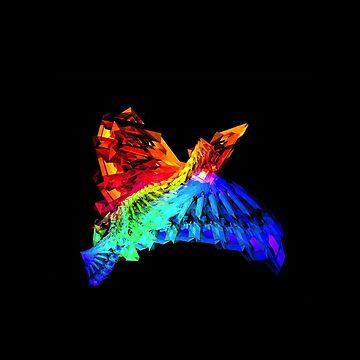 Cool rainbow bird pillow  by Ilovebronys