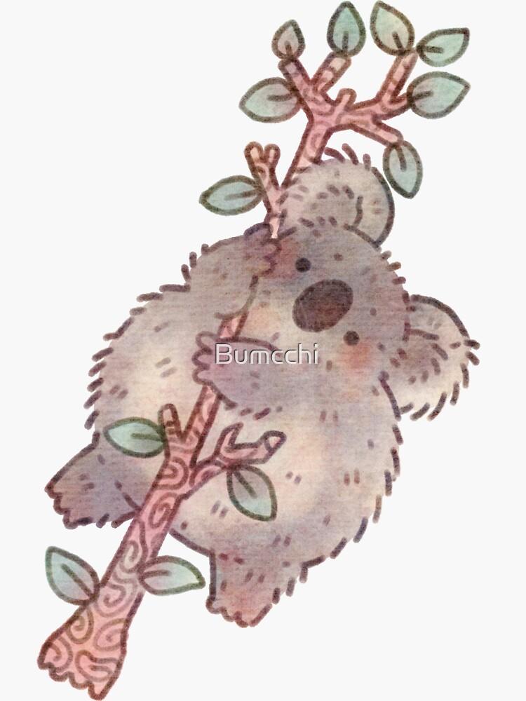 Chubby Koala on a Tree - Australian Wildlife by Bumcchi