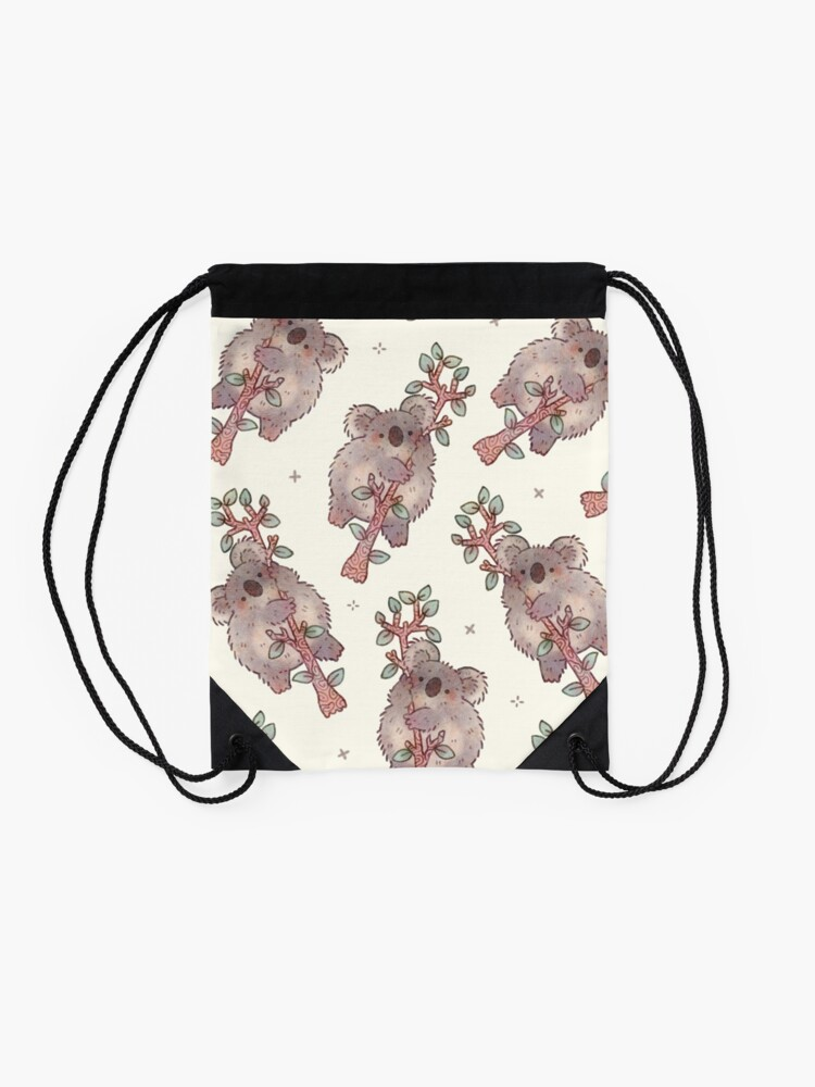 Alternate view of Chubby Koala on a Tree - Australian Wildlife Drawstring Bag