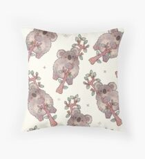 Chubby Koala Throw Pillow