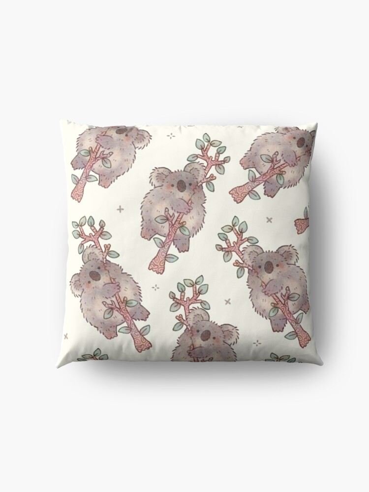 Alternate view of Chubby Koala on a Tree - Australian Wildlife Floor Pillow
