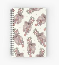 Chubby Koala on a Tree - Australian Wildlife Spiral Notebook