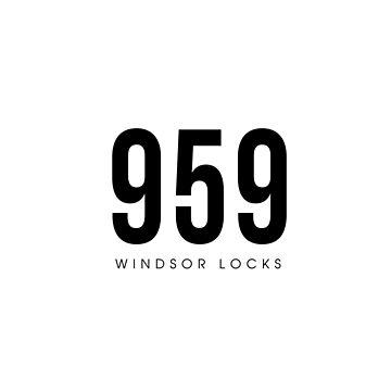 Windsor Locks, CT - 959 Código de área de diseño de CartoCreative