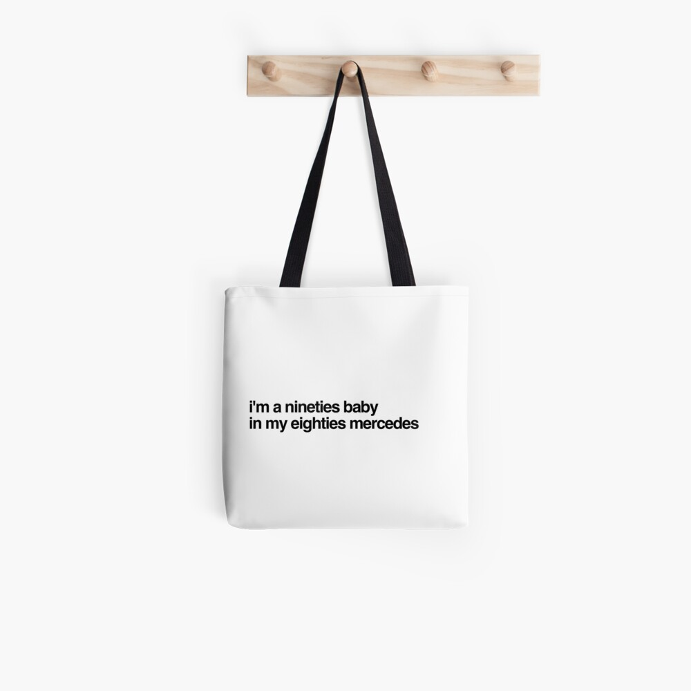 eighties mercedes Tote Bag