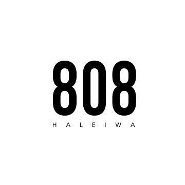 Haleiwa, HI - 808 Código de área de diseño de CartoCreative