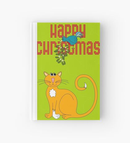 Happy Christmas in Red Hardcover Journal