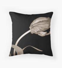 Tulip in Sepia Throw Pillow