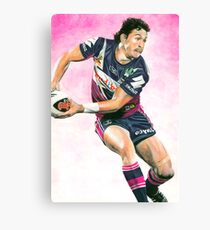 Illustration of a Rugby League player in action. Canvas Print