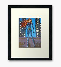 Red Hero Framed Print