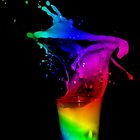 The Splash Of A Rainbow  by mishmashmuddle