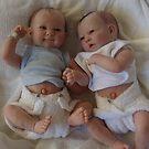 Twin dolls by Cheryl J Newman
