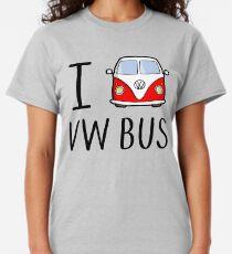 Camiseta clásica I Love VW Bus