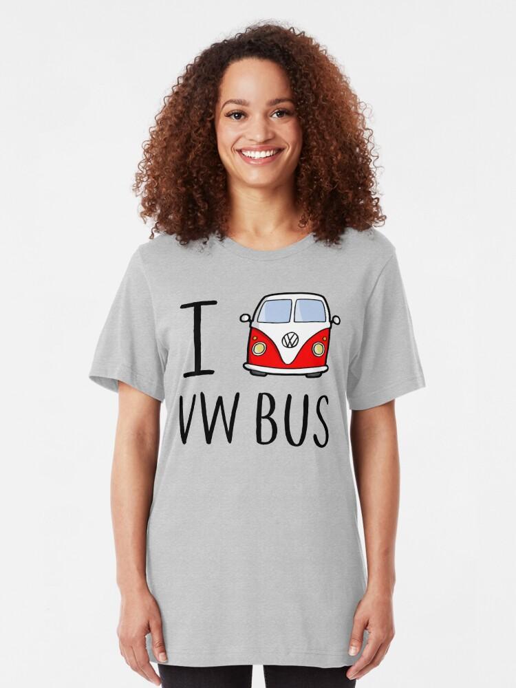 Vista alternativa de Camiseta ajustada I Love VW Bus