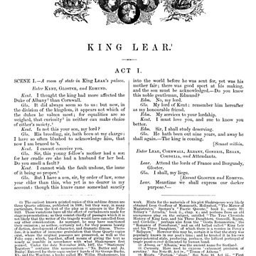 King Lear William Shakespeare First Page by buythebook86