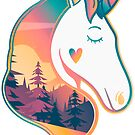 Unicorn Head | Sunrise Over Trees by Weldon Fultz