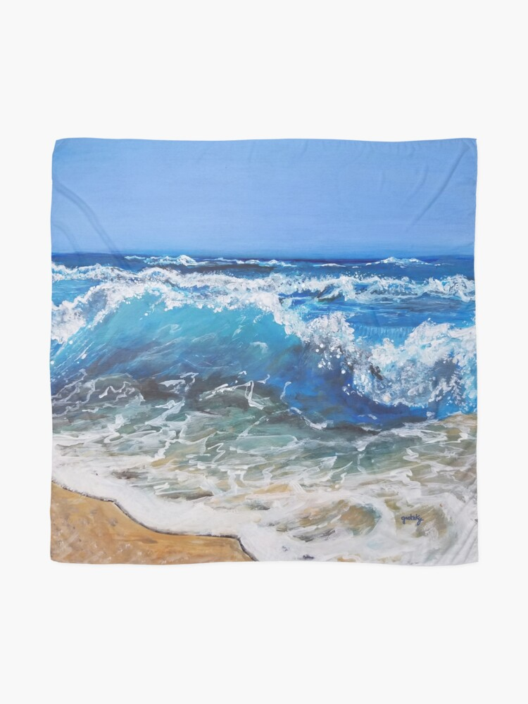 Alternate view of Rough Sea Painting Scarf
