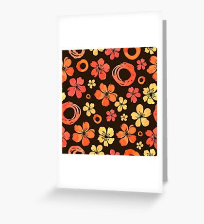 - Floral doodle pattern - Greeting Card