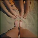 at the Beach with Friends by Debja