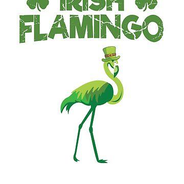 Irish Green Flamingo Amazing St Patrick's Day Bird by allsortsmarket