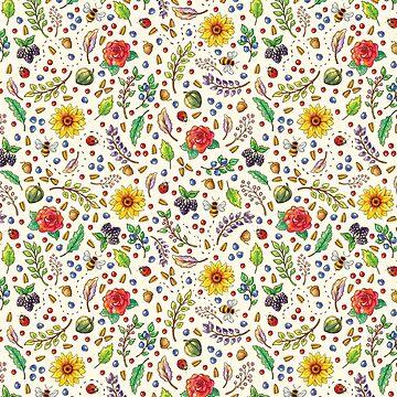 Sweet Sunflower Pattern by AllyArtDesigns