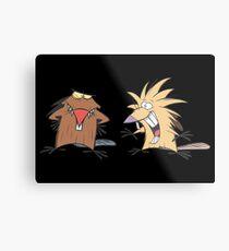 Angry Beavers Merchandise Metal Print