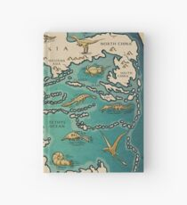 map of the supercontinent Pangaea Hardcover Journal