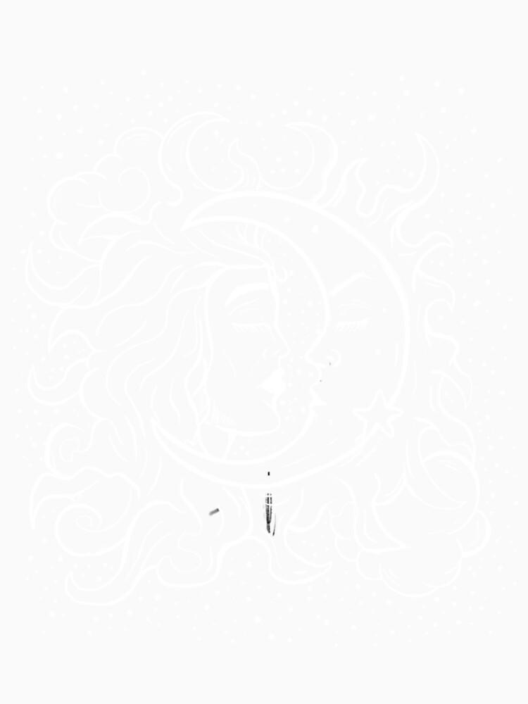 Sun & Moon Gothic Witchy Hand Drawn Design by lunaelizabeth