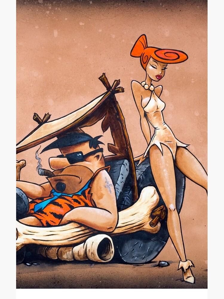 The Flintstones go Lowbrow by gWebberArts