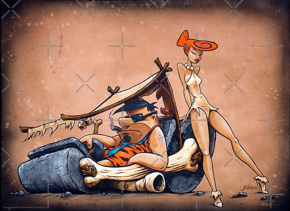 The Flintstones go Lowbrow by George Webber