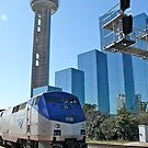Engine #59 Pulls Amtrak #21 Into Dallas Texas by Jack McCabe