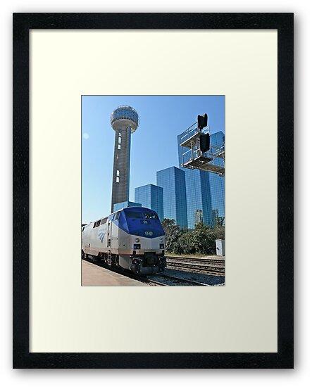 Engine #59 Pulls Amtrak #21 Into Dallas Texas by Jack McCabe