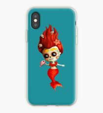 The Day of The Dead Mermaid iPhone Case