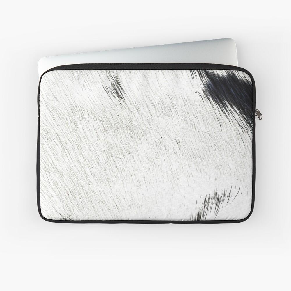 White Cowhide Laptop Sleeve