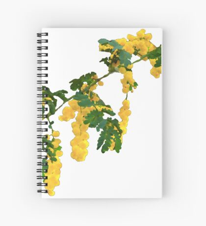 Wattle Fever - White Spiral Notebook