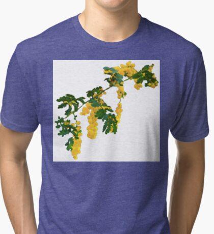 Wattle Fever - White Tri-blend T-Shirt
