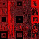 Nested Squares in Red & Black by Igor Shrayer