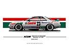 Hasemi GTR Macau 1990 by kanseigazou