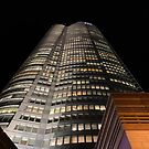 Roppongi Hills Mori Tower at Night by DLKR