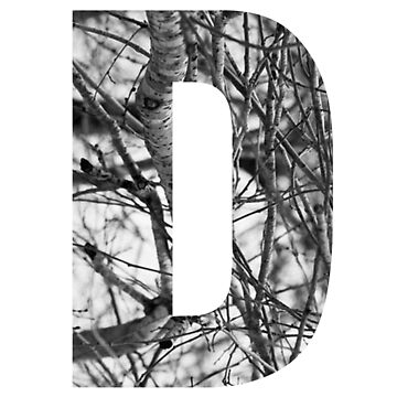 Tree letter D by PCollection