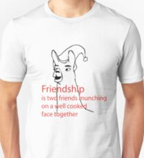 Llamas with hats - friendship Slim Fit T-Shirt