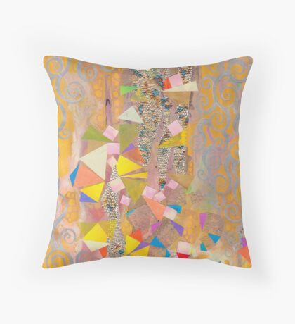 Yellow and Gold Throw Pillow
