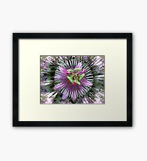"""Abstract - """"Guess the flower"""" Framed Print"""