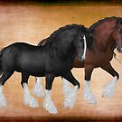 A Pair of Heavy Horses by LoneAngel