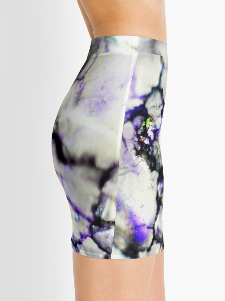 Alternate view of Violet crackle texture Mini Skirt