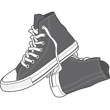 Zapato gris popular del vintage retro de tlaprise