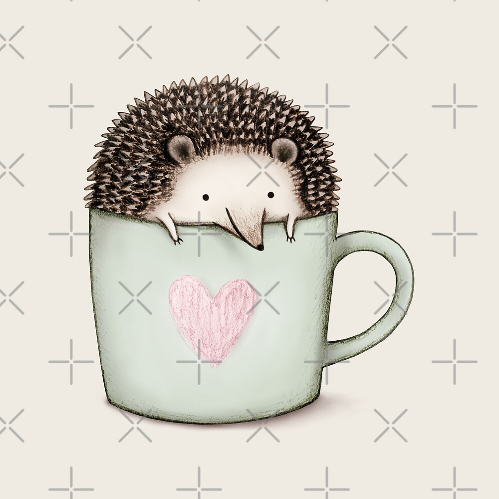 «Erizo en una taza» de Sophie Corrigan